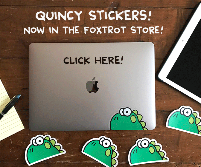Quincy Stickers from Bill Amend